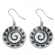 Nautilus Wire Earrings with White CZ